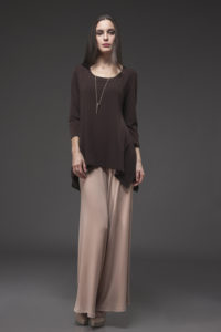 Montage Top, MON-1019 Brown. Palazzo Pant, PLT-3000 Camel.