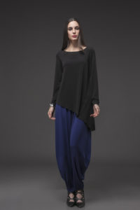 Point Full Sleeve Top, PFT-1013 Black. Harem Pant, HAR-3001 Royal Blue (2)