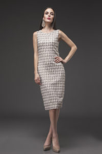 Sparkle Knit Classic Dress, SPC-5014 Ivory