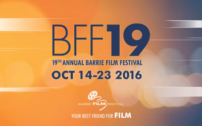 First year of sponsorship with the Barrie Film Festival