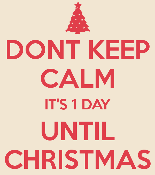 Christmas Countdown – the last day